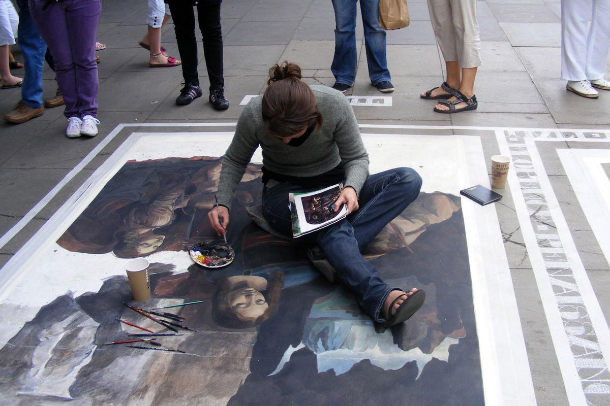 Street art artist